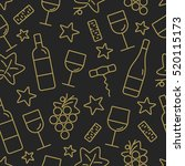 seamless pattern with wine and... | Shutterstock .eps vector #520115173