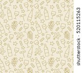 seamless pattern with wine and... | Shutterstock .eps vector #520115263