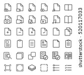 simple document thin line icons ...