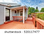 backyard of craftsman home with ... | Shutterstock . vector #520117477