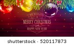 christmas vector background for ... | Shutterstock . vector #520117873