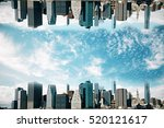 abstract upside down cityscape  ... | Shutterstock . vector #520121617