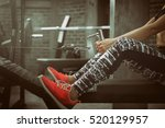 close up of young fitness woman ... | Shutterstock . vector #520129957