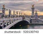 pont alexandre iii at sunset... | Shutterstock . vector #520130743