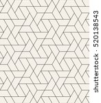 Vector seamless pattern. Modern stylish texture with monochrome trellis. Repeating geometric triangular grid. Simple graphic design. Trendy hipster sacred geometry. | Shutterstock vector #520138543
