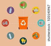different colored recycle waste ...   Shutterstock .eps vector #520140967