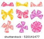 set of decorative delicate... | Shutterstock .eps vector #520141477