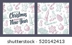 seamless pattern for merry... | Shutterstock .eps vector #520142413