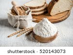 wheat and flour on the table | Shutterstock . vector #520143073