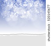 background with snowflakes and... | Shutterstock .eps vector #520145677