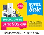 super sale electronics... | Shutterstock .eps vector #520145707