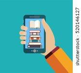 vector online education concept ... | Shutterstock .eps vector #520146127