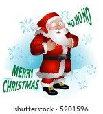 santa clause.  a vector...   Shutterstock .eps vector #5201596