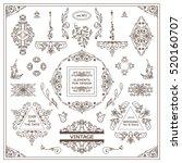 vector set of vintage elements... | Shutterstock .eps vector #520160707