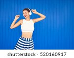 joy and music. colorful... | Shutterstock . vector #520160917