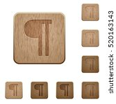 text paragraph icons in carved... | Shutterstock .eps vector #520163143