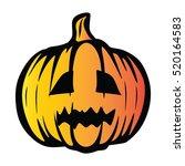 pumpkin halloween vector | Shutterstock .eps vector #520164583