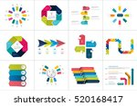 mega set of various arrows... | Shutterstock .eps vector #520168417
