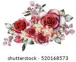 Watercolor Flowers. Romantic...