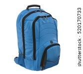 blue backpack isolated on white.... | Shutterstock . vector #520170733