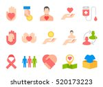 donation and volunteer work... | Shutterstock .eps vector #520173223