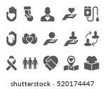donation and volunteer work... | Shutterstock .eps vector #520174447