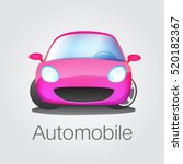fun car front view vector... | Shutterstock .eps vector #520182367