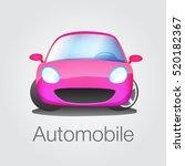 fun car front view vector...   Shutterstock .eps vector #520182367