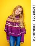 Kid's Fashion. Portrait Of A...
