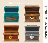 Opened Antique Wooden Chest In...