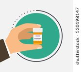 male doctor holding container... | Shutterstock .eps vector #520198147