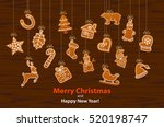 merry christmas and happy new... | Shutterstock .eps vector #520198747