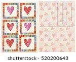 hand drawn front  back postcard | Shutterstock . vector #520200643