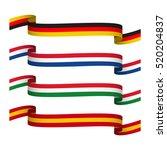 vector set ribbons in the... | Shutterstock .eps vector #520204837