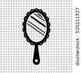 hand mirror   black  vector icon | Shutterstock .eps vector #520211527