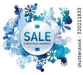 christmas market sale ... | Shutterstock .eps vector #520211833