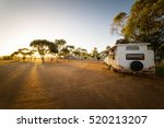 Campsite With Caravans In A...