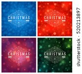 christmas greeting cards... | Shutterstock .eps vector #520213897