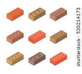 set of nine different shapes... | Shutterstock .eps vector #520214173