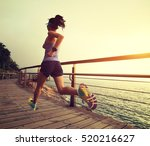 young fitness sports woman ... | Shutterstock . vector #520216627