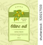 retro label for olive oil with... | Shutterstock .eps vector #520217533