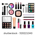 Make Up Cosmetics. Vector...