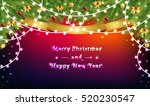 garlands and christmas tree... | Shutterstock .eps vector #520230547