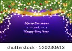 garlands and christmas tree... | Shutterstock .eps vector #520230613