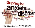 anxiety disorder word cloud...   Shutterstock . vector #520231363