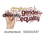 gender equality word cloud | Shutterstock . vector #520231537