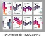 set of brochure templates ... | Shutterstock .eps vector #520238443