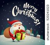 merry christmas  santa claus in ...   Shutterstock .eps vector #520241023
