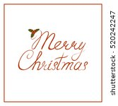 merry christmas text decorated... | Shutterstock .eps vector #520242247