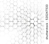 Chemistry 3D pattern, hexagonal molecule structure on white, scientific medical research. Medicine, science and technology concept. Motion design. Geometric abstract background. | Shutterstock vector #520247533